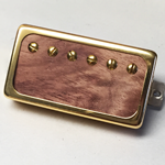 Exotic Bubinga Wood P.A.F Humbucker Pickup Open Ring