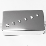 Humbucker P90 Angled Nickel Cover - Full Size Humbucker