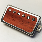 Exotic Paduak Wood P.A.F Humbucker Pickup Open Ring