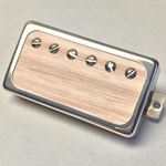 Exotic Red Oak Wood P.A.F Humbucker Pickup Open Ring