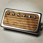 Exotic Teak Wood P.A.F Humbucker Pickup Open Ring