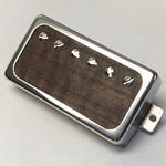 Exotic Walnut Wood P.A.F Humbucker Pickup Open Ring