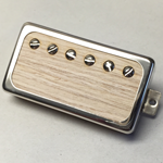 Exotic White Oak Wood P.A.F Humbucker Pickup Open Ring