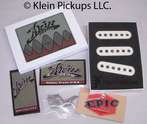 Klein Pickups Stratocaster Packaging