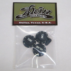 Stratocaster Replacement Black Knobs