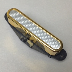 Telecaster Neck Silver Foil Gold Cover