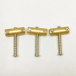 Vintage Compensated Brass Telecaster Saddles