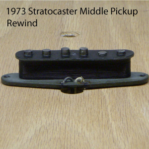 Klein Pickups 1973 Stratocaster Middle Pickup Rewind