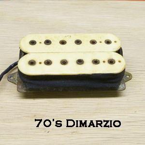 1970s Dimarzio Double Cream Humbucker Rewind