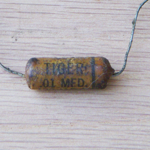 Cornell Dubilier Tiger Wax Capacitor .01 MFD 120v