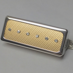 Mini Humbucker Size P90 Gold Foil Pickup