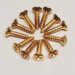 Screws - Gold Guitar Pickguard Screws
