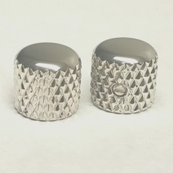 Heavy Knurl Dome Top Telecaster Knob Nickel